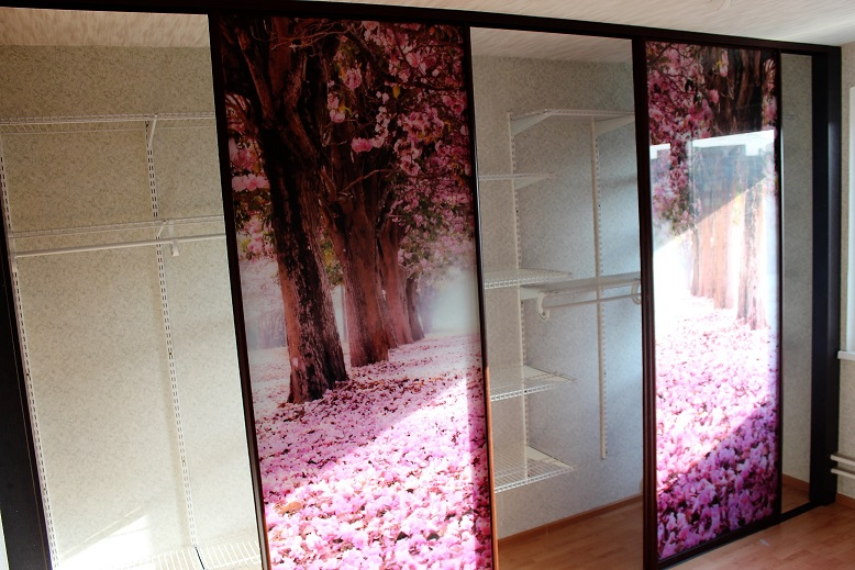 последнюю дверь в гардеробную с фотопечатью для
